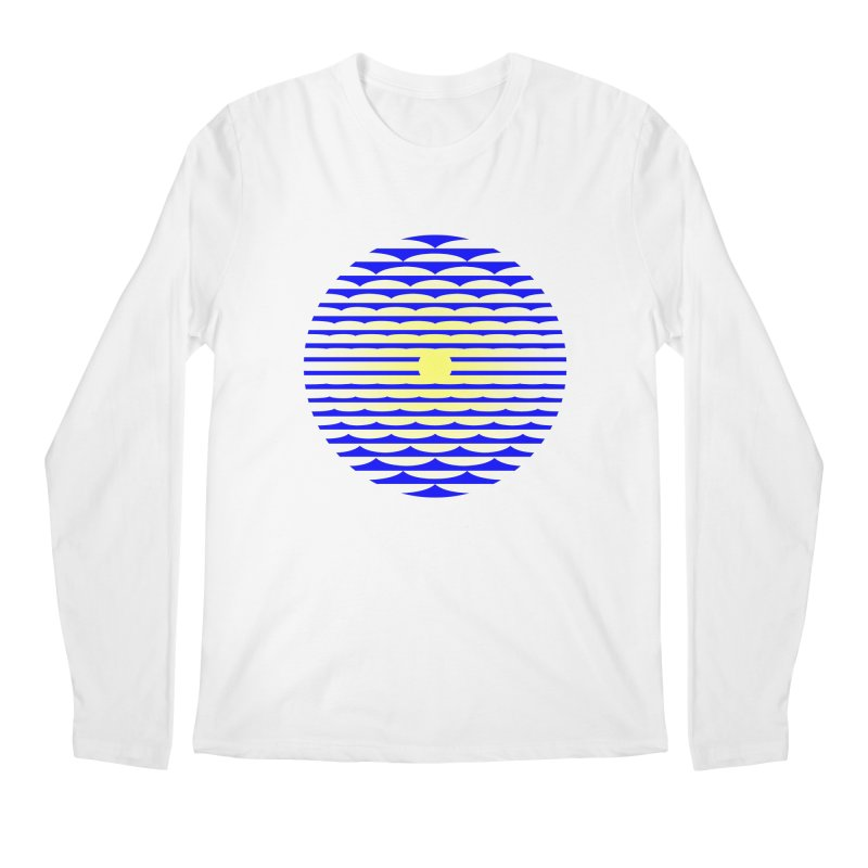 The Binding Light (BLUE/YELLOW) Men's Regular Longsleeve T-Shirt by Hi Hello Greetings