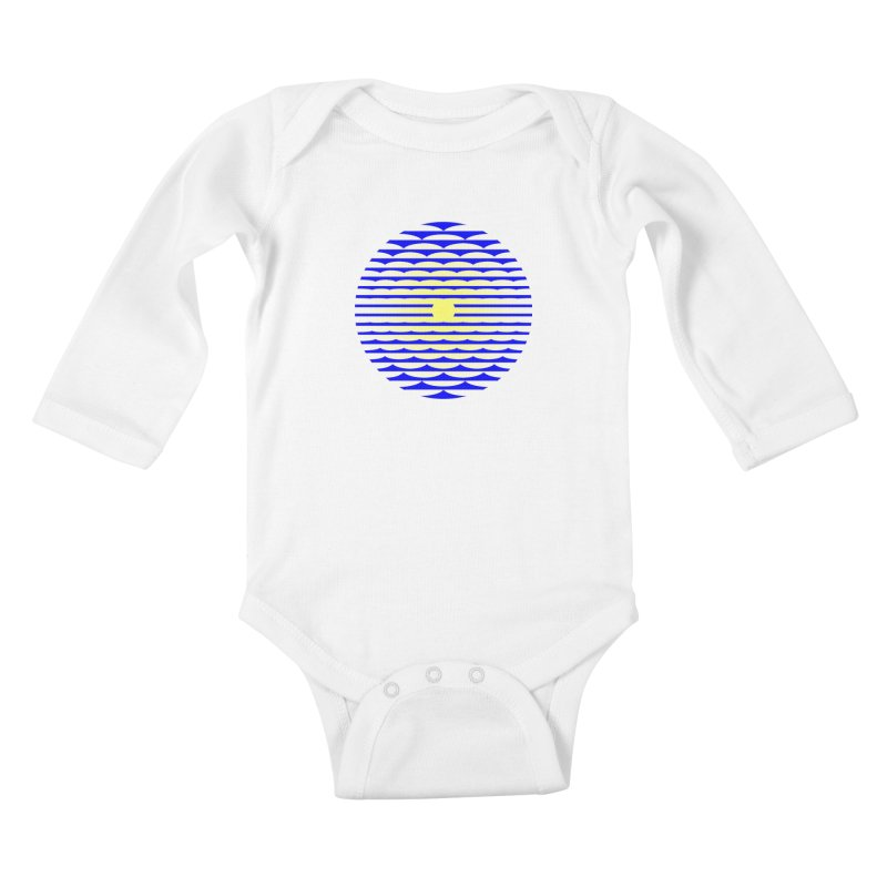 The Binding Light (BLUE/YELLOW) Kids Baby Longsleeve Bodysuit by Hi Hello Greetings