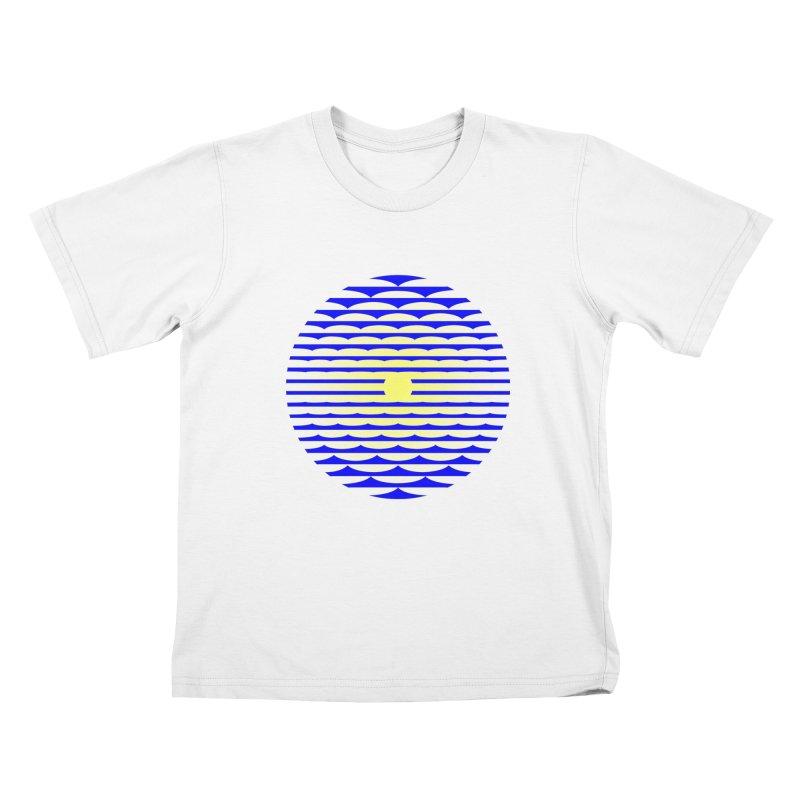 The Binding Light (BLUE/YELLOW) Kids T-Shirt by Hi Hello Greetings