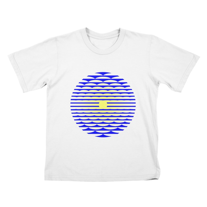 The Binding Light (BLUE/YELLOW) Kids T-Shirt by Hi Hello Greetings