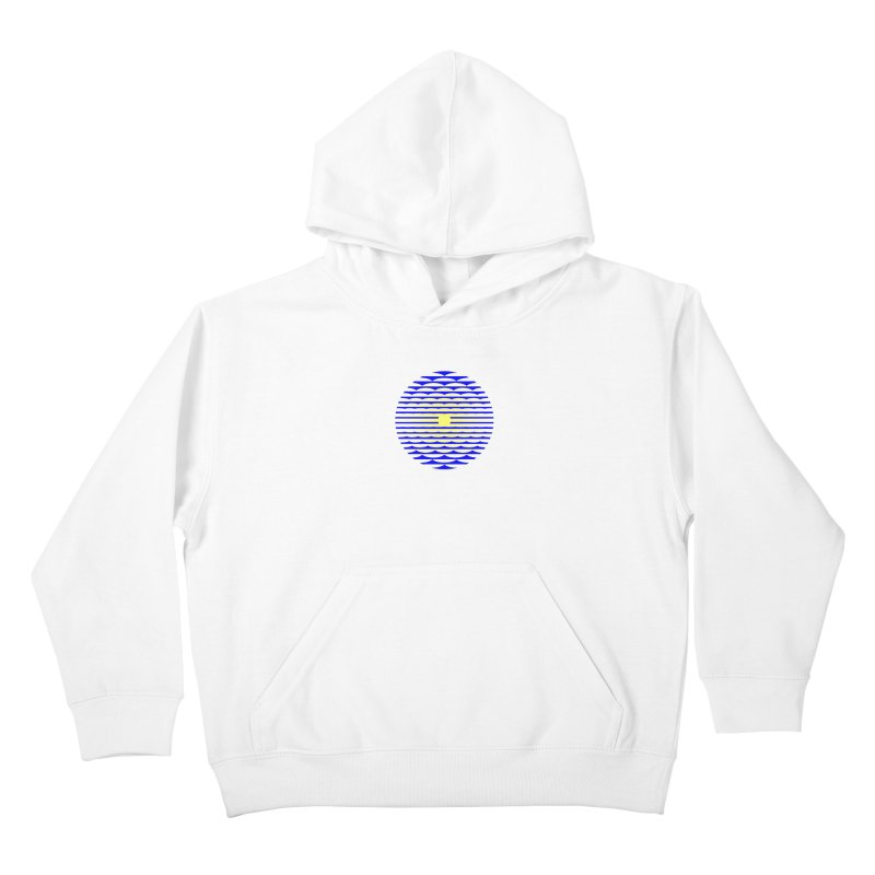 The Binding Light (BLUE/YELLOW) Kids Pullover Hoody by Hi Hello Greetings