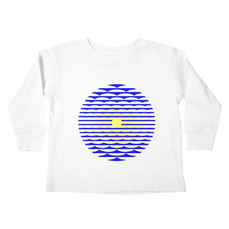 The Binding Light (BLUE/YELLOW) Kids Toddler Longsleeve T-Shirt by Hi Hello Greetings
