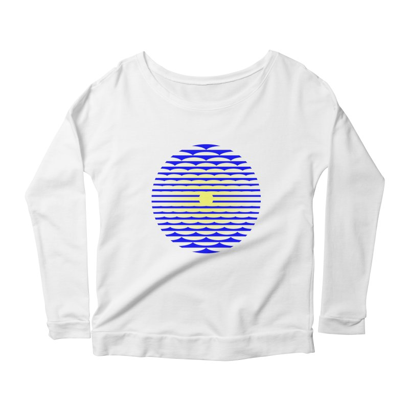 The Binding Light (BLUE/YELLOW) Women's Scoop Neck Longsleeve T-Shirt by Hi Hello Greetings