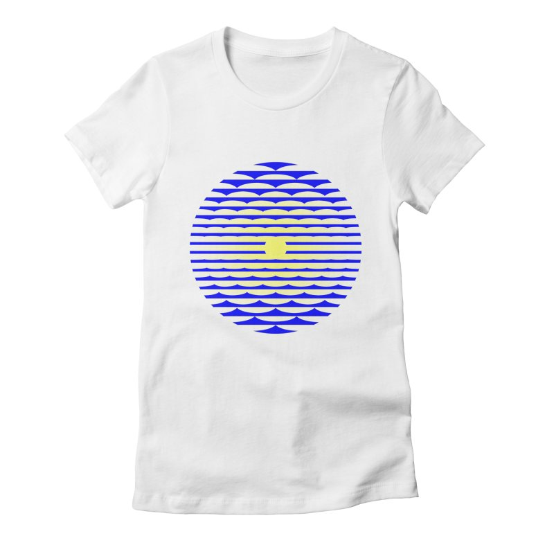 The Binding Light (BLUE/YELLOW) Women's Fitted T-Shirt by Hi Hello Greetings