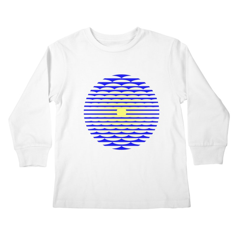 The Binding Light (BLUE/YELLOW) Kids Longsleeve T-Shirt by Hi Hello Greetings