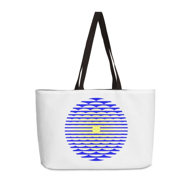 The Binding Light (BLUE/YELLOW) Accessories Weekender Bag Bag by Hi Hello Greetings