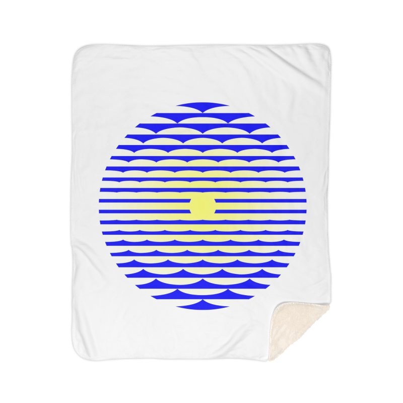 The Binding Light (BLUE/YELLOW) Home Sherpa Blanket Blanket by Hi Hello Greetings