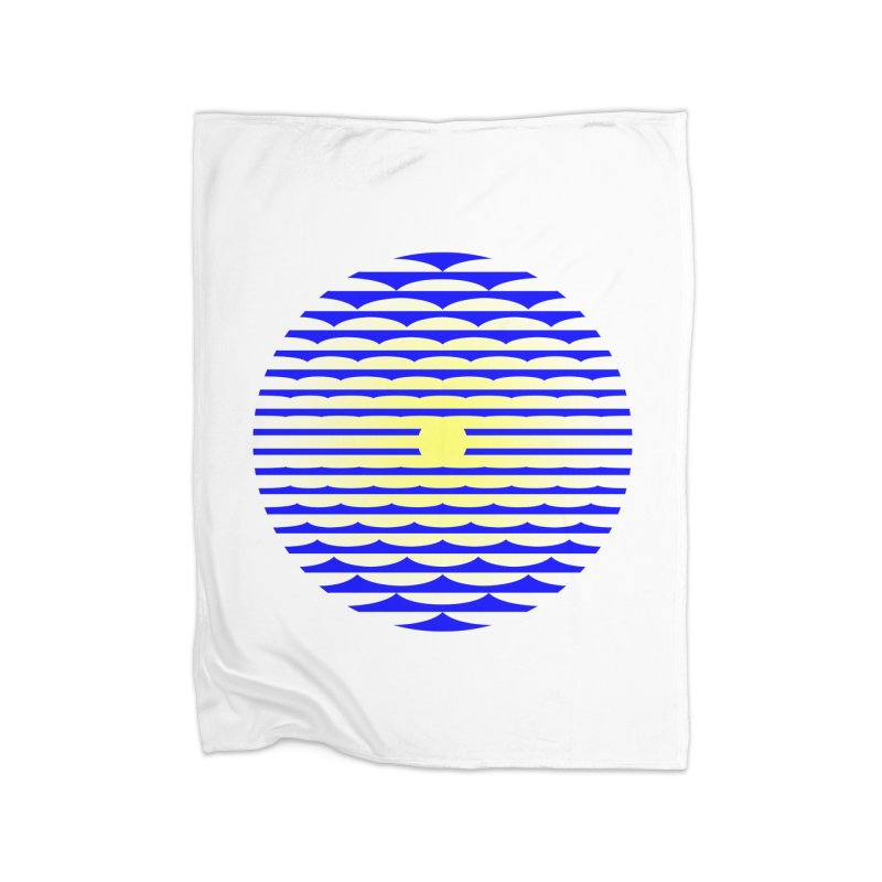 The Binding Light (BLUE/YELLOW) Home Blanket by Hi Hello Greetings