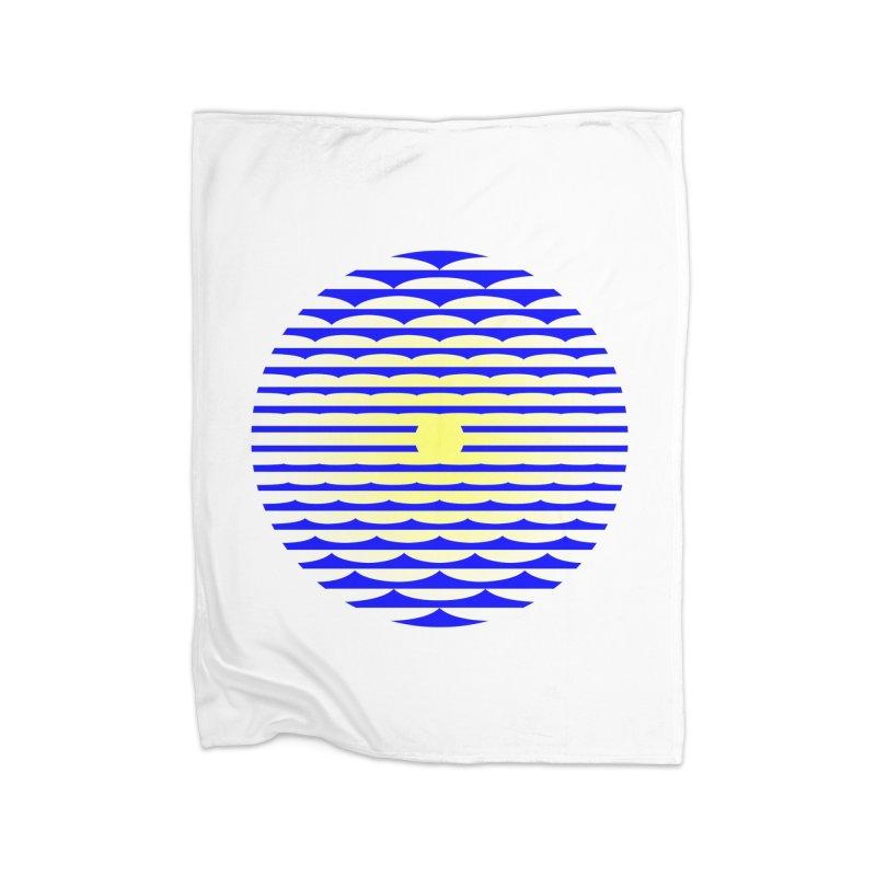 The Binding Light (BLUE/YELLOW) Home Fleece Blanket Blanket by Hi Hello Greetings