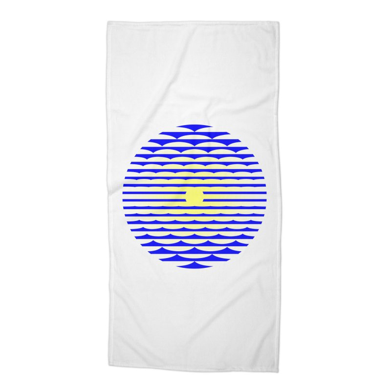 The Binding Light (BLUE/YELLOW) Accessories Beach Towel by Hi Hello Greetings
