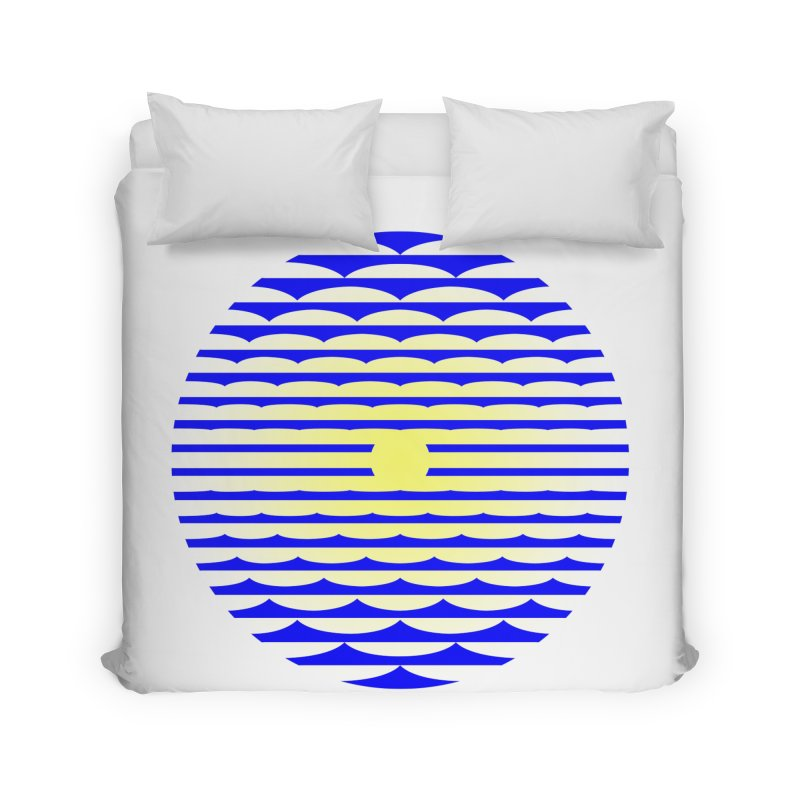 The Binding Light (BLUE/YELLOW) Home Duvet by Hi Hello Greetings
