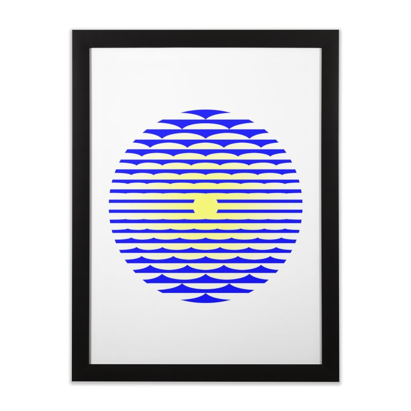 The Binding Light (BLUE/YELLOW) Home Framed Fine Art Print by Hi Hello Greetings
