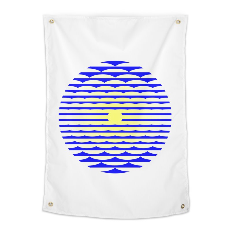 The Binding Light (BLUE/YELLOW) Home Tapestry by Hi Hello Greetings