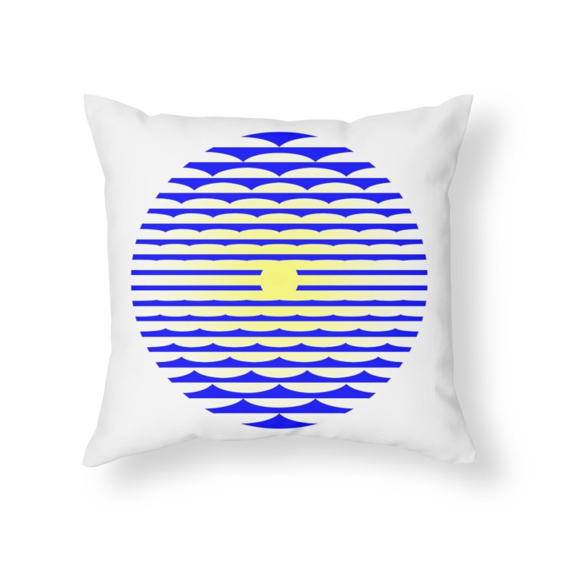 The Binding Light (BLUE/YELLOW) Home Throw Pillow by Hi Hello Greetings