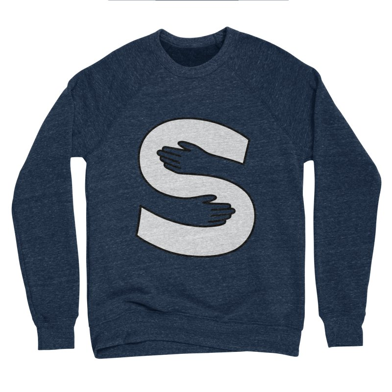 S-Squeeze Me? Men's Sponge Fleece Sweatshirt by Hi Hello Greetings