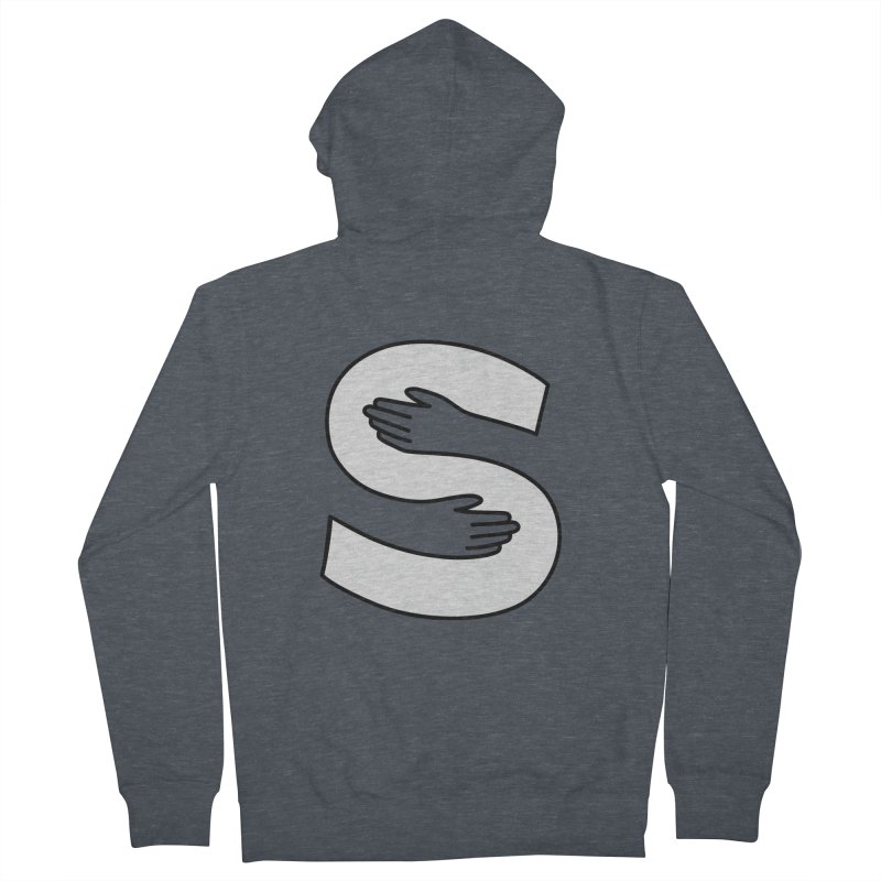 S-Squeeze Me? Men's French Terry Zip-Up Hoody by Hi Hello Greetings