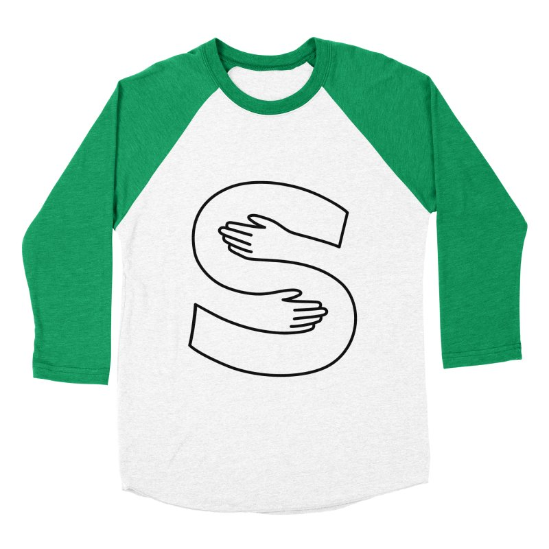 S-Squeeze Me? Men's Baseball Triblend Longsleeve T-Shirt by Hi Hello Greetings