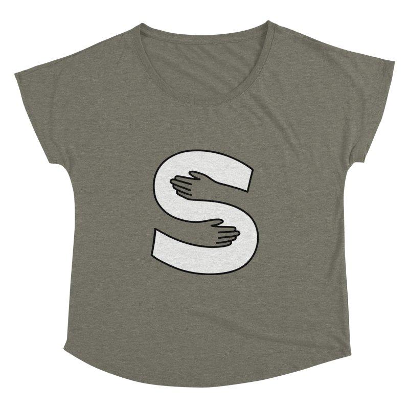 S-Squeeze Me? Women's Dolman Scoop Neck by Hi Hello Greetings