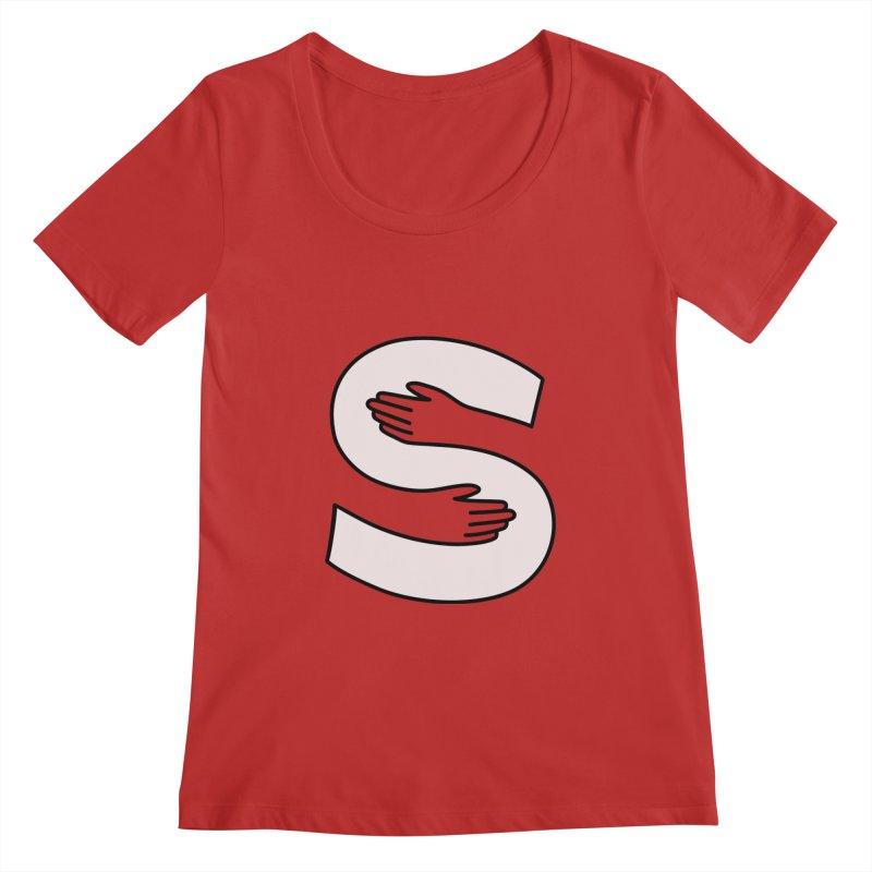 S-Squeeze Me? Women's Regular Scoop Neck by Hi Hello Greetings
