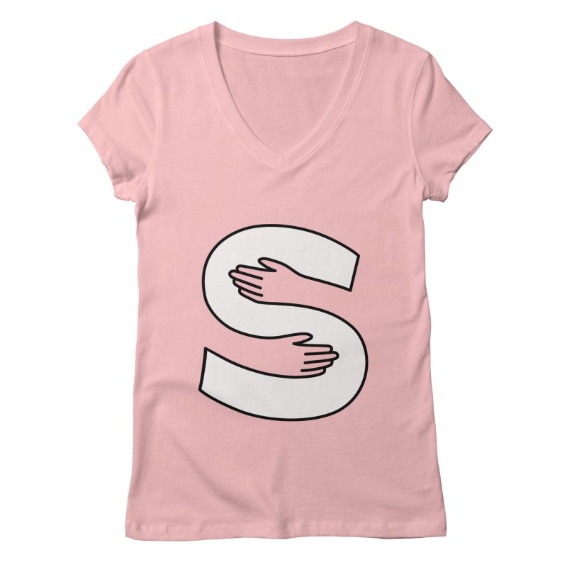 S-Squeeze Me? Women's Regular V-Neck by Hi Hello Greetings
