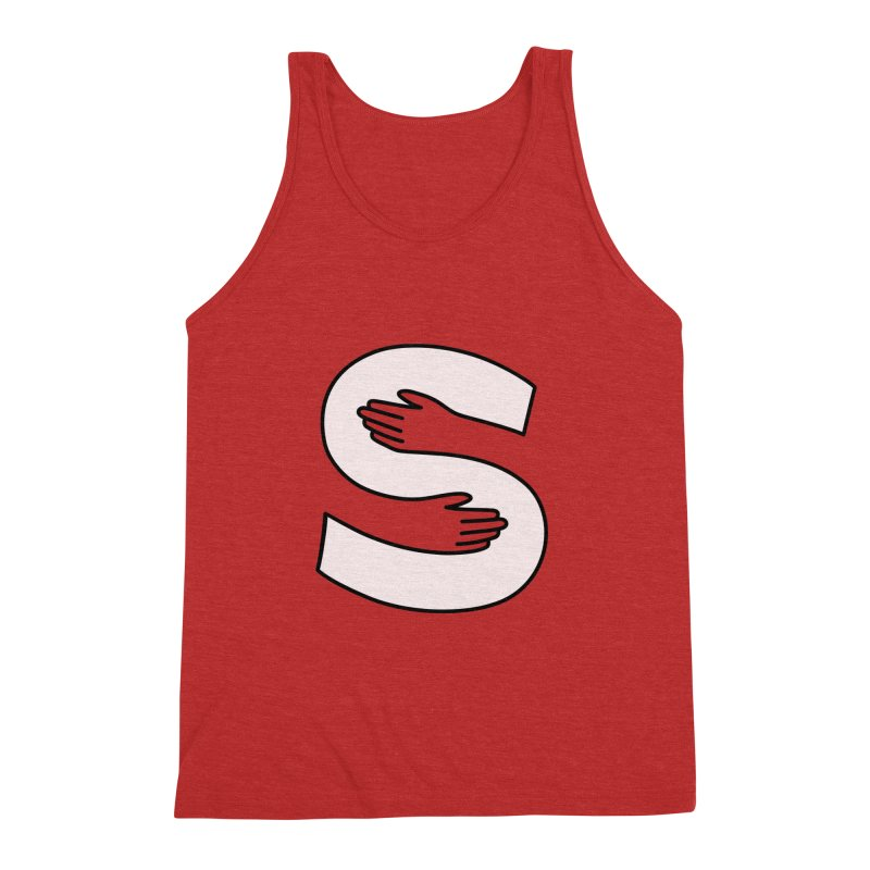 S-Squeeze Me? Men's Triblend Tank by Hi Hello Greetings