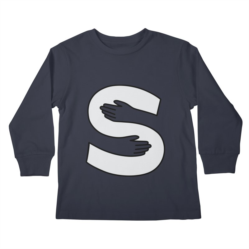 S-Squeeze Me? Kids Longsleeve T-Shirt by Hi Hello Greetings