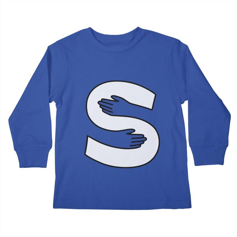 S-Squeeze Me? Kids Longsleeve T-Shirt by Hi Hello Greetings