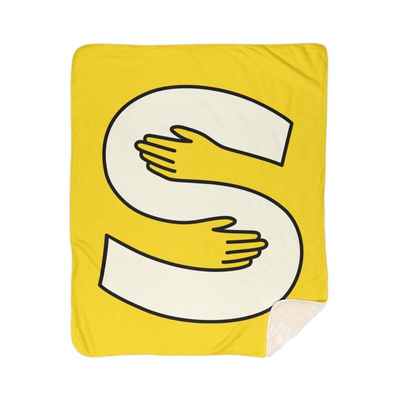 S-Squeeze Me? Home Sherpa Blanket Blanket by Hi Hello Greetings
