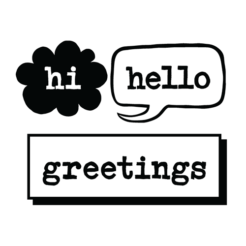 Hi Hello Greetings Logo