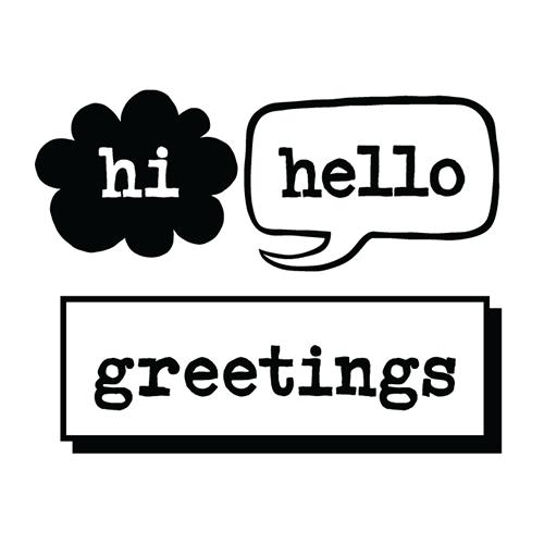Hi Hello Greetings Logo