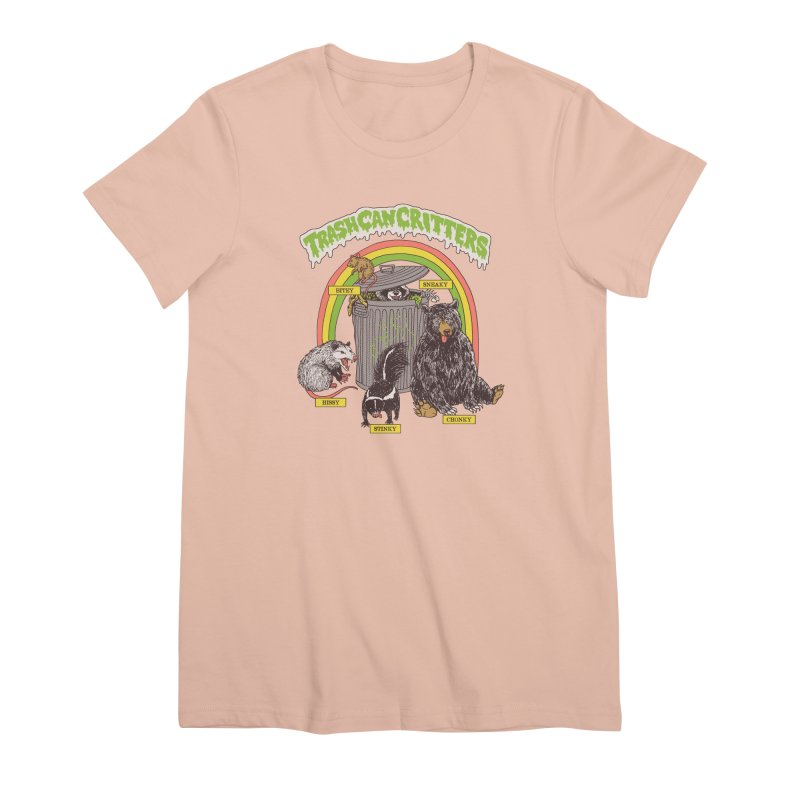 Trash Can Critters Women's Premium T-Shirt by Hillary White