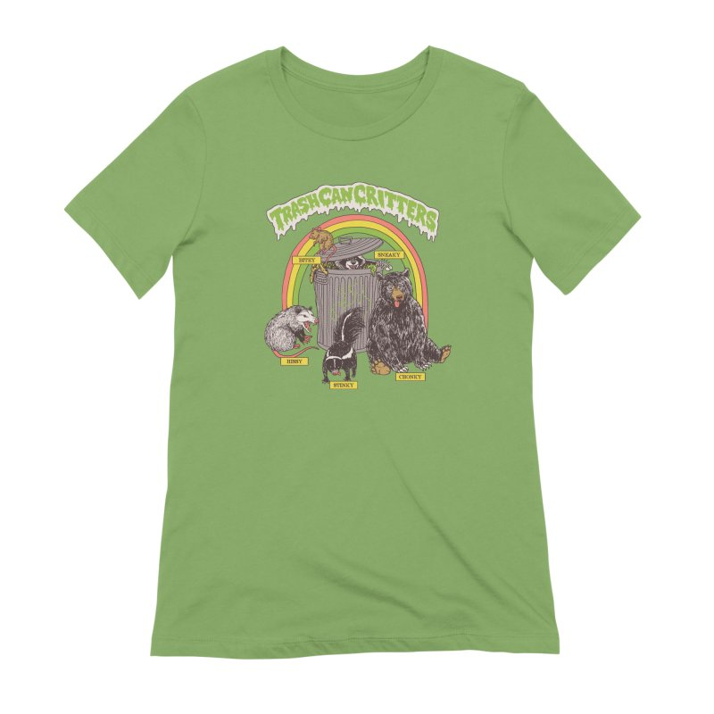 Trash Can Critters Women's Extra Soft T-Shirt by Hillary White