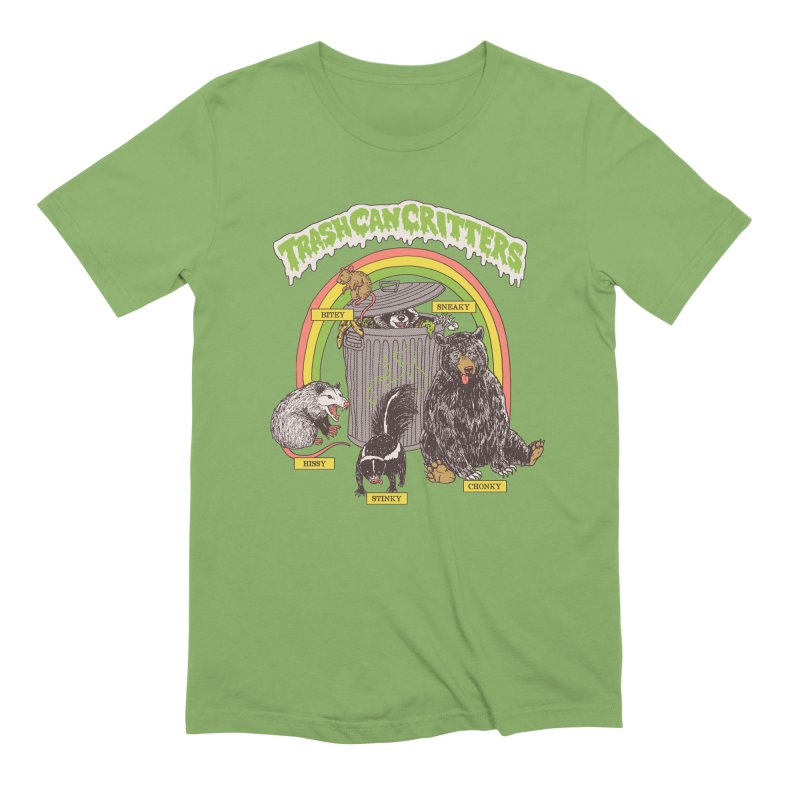 Trash Can Critters Men's Extra Soft T-Shirt by Hillary White