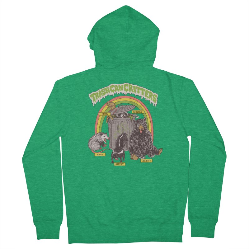 Trash Can Critters Men's Zip-Up Hoody by Hillary White