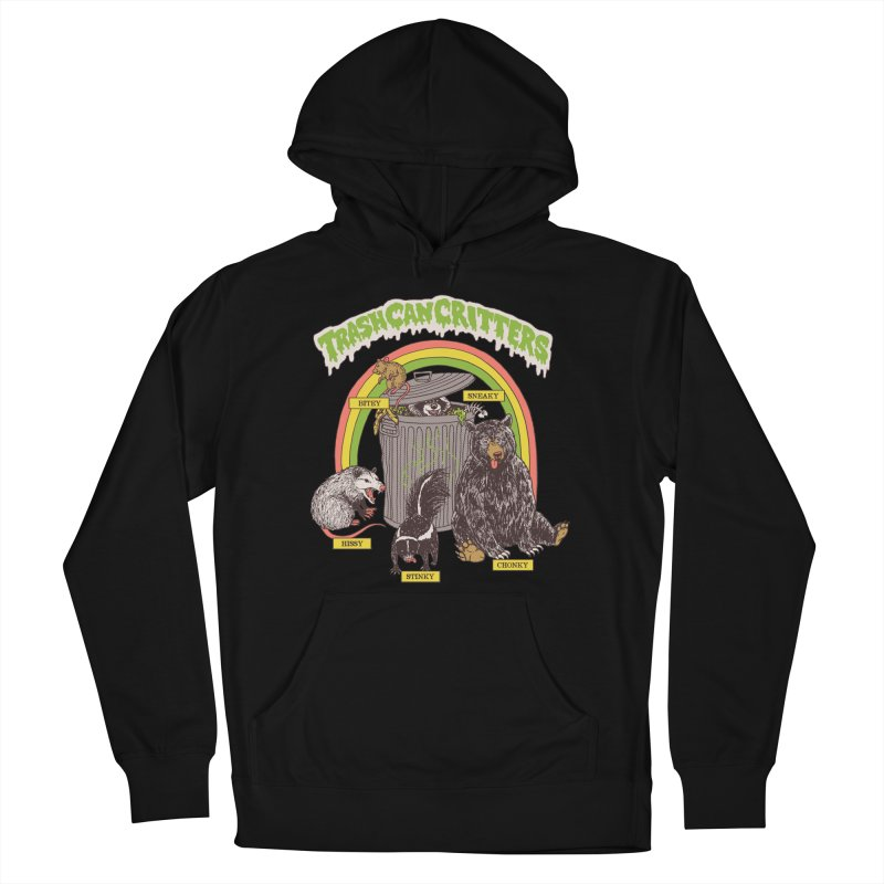 Trash Can Critters Men's French Terry Pullover Hoody by Hillary White
