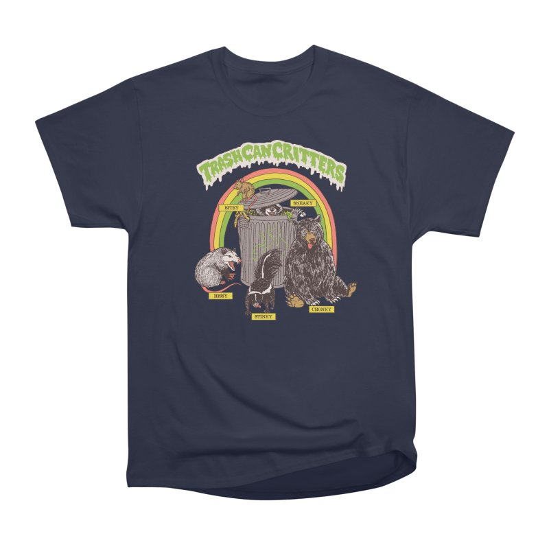 Trash Can Critters Men's Heavyweight T-Shirt by Hillary White