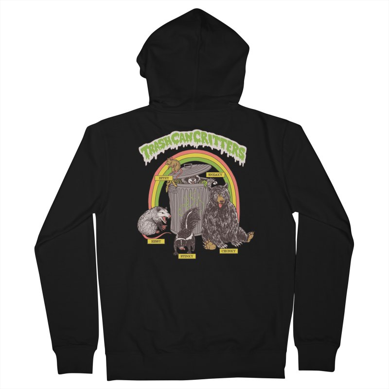 Trash Can Critters Men's French Terry Zip-Up Hoody by Hillary White