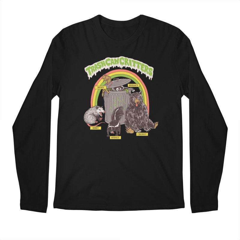 Trash Can Critters Men's Regular Longsleeve T-Shirt by Hillary White