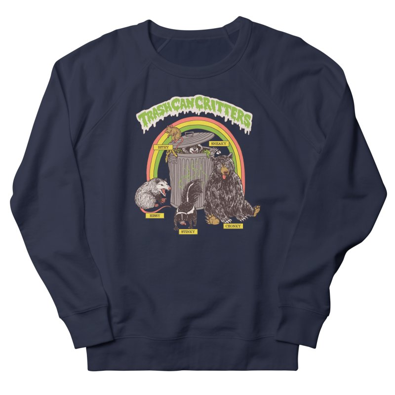 Trash Can Critters Women's French Terry Sweatshirt by Hillary White