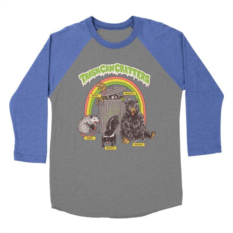 Trash Can Critters Men's Baseball Triblend Longsleeve T-Shirt by Hillary White