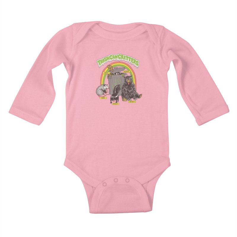 Trash Can Critters Kids Baby Longsleeve Bodysuit by Hillary White