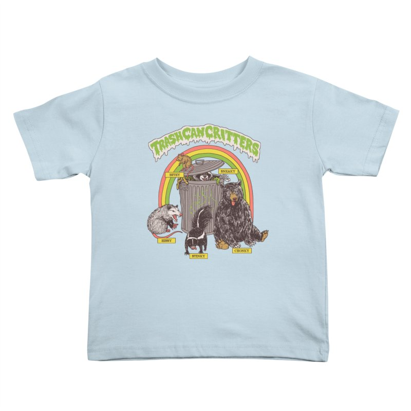 Trash Can Critters Kids Toddler T-Shirt by Hillary White