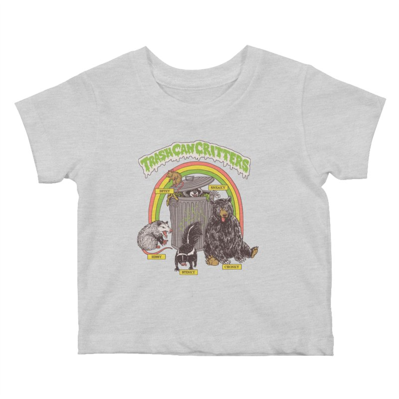Trash Can Critters Kids Baby T-Shirt by Hillary White
