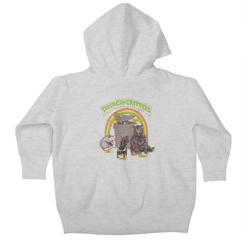 Trash Can Critters Kids Baby Zip-Up Hoody by Hillary White