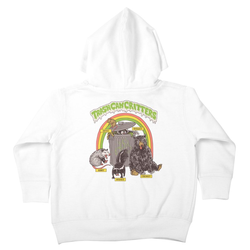Trash Can Critters Kids Toddler Zip-Up Hoody by Hillary White