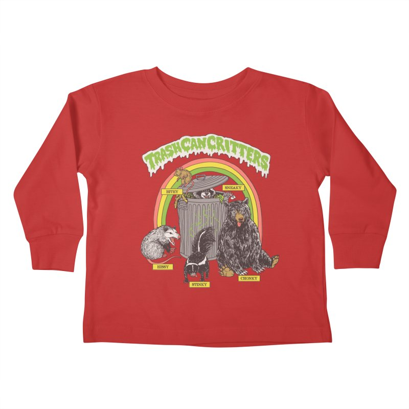Trash Can Critters Kids Toddler Longsleeve T-Shirt by Hillary White