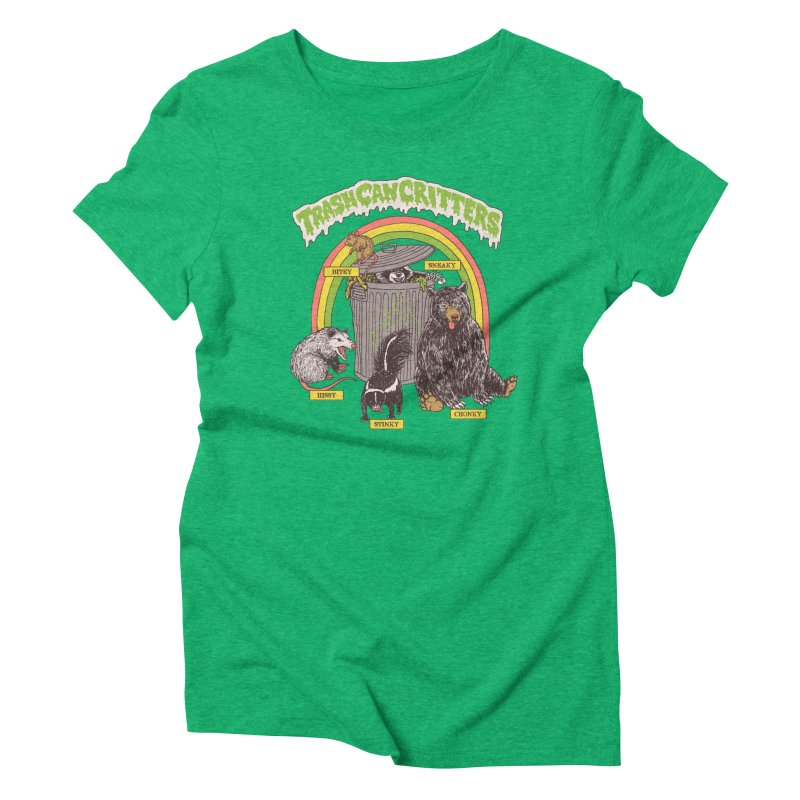 Trash Can Critters Women's Triblend T-Shirt by Hillary White