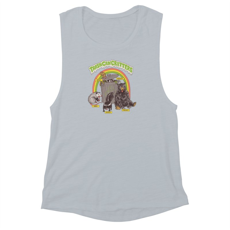Trash Can Critters Women's Muscle Tank by Hillary White