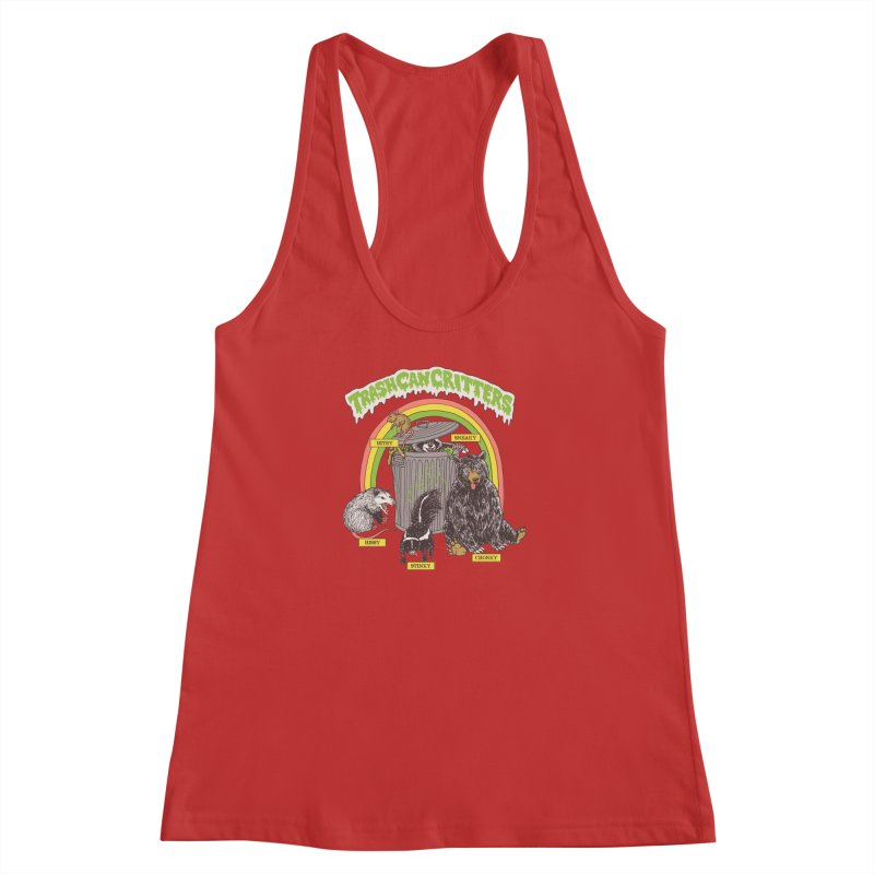 Trash Can Critters Women's Racerback Tank by Hillary White