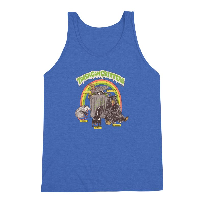 Trash Can Critters Men's Triblend Tank by Hillary White